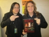 Brian Lew and Dave Ellefson of Megadeth